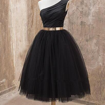 One shoulder Homecoming dress, Blac..