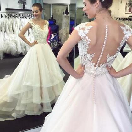 Cheap wedding dresses 2017,Lace Wed..