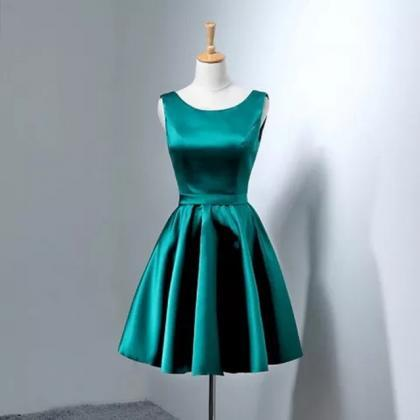 short prom dresses gowns,bow back c..