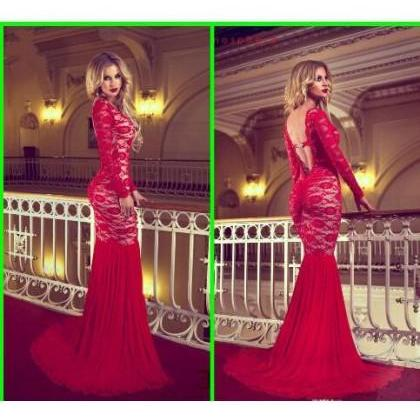 Prom Dress Formal Dress Backless Re..