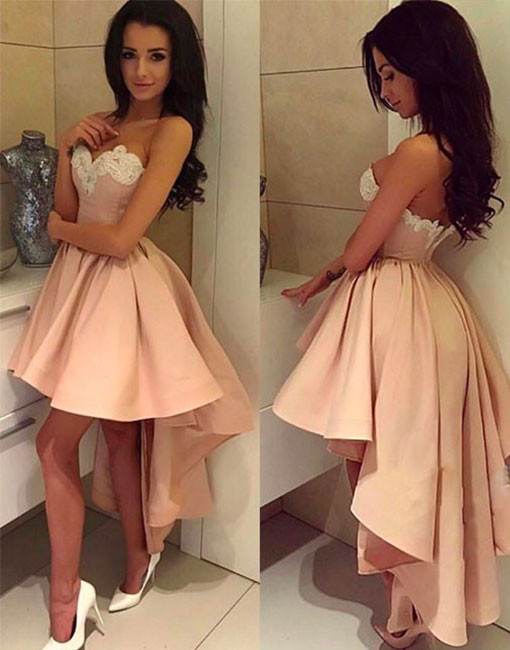 Cheap homecoming dresses 2017 New Arrival A-Line V-Neck Blue Tulle Short Homecoming/Prom Dress with Embroidery