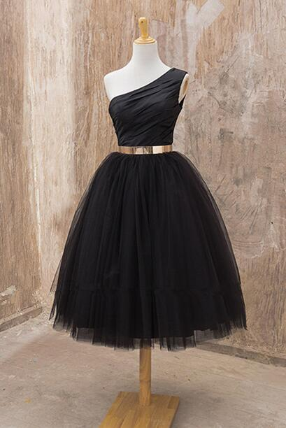 One shoulder Homecoming dress, Black homecoming dress, short homecoming dress, 2017 homecoming dress, dresses for homecoming,