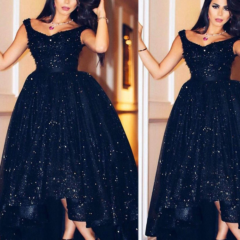 Black Evening Dresses, V Neck Prom Dresses, Lace Evening Gowns, New ...