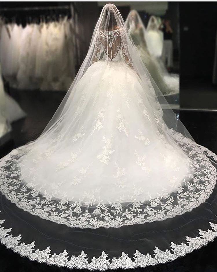 Wedding Dresses, Wedding Gown Sexy Illusion Back Long Sleeves Lace Wedding Dresses