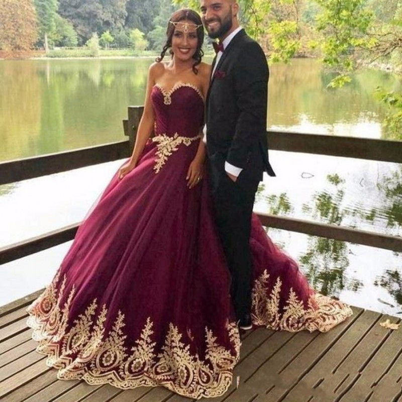 Cheap Wedding Dresses 2017,Princess Ball Gown Evening Dresses,Purple ...