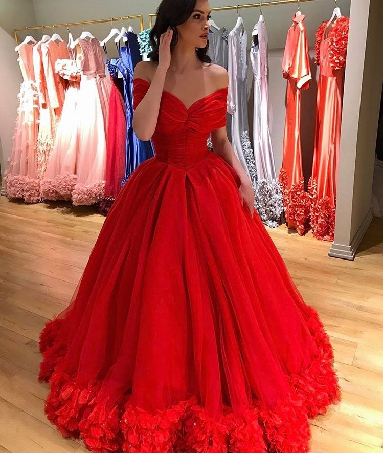 Cheap Prom Dresses 2017,Flowers Princess Sweet 16 Dresses,Ball Gowns ...