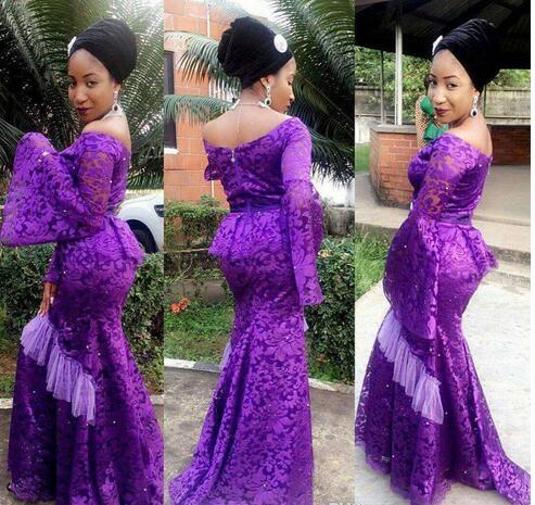 Cheap Prom Dresses 2017purple Lace Poet Long Sleeve Prom Dress Plus