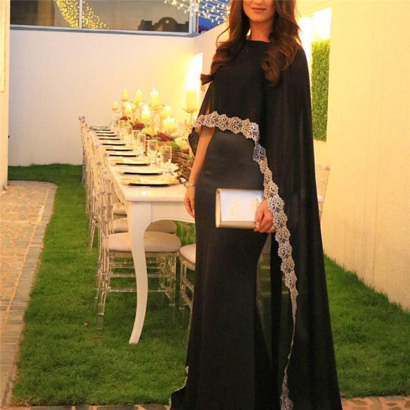 Cheap Prom Dresses 2017black Evening Dresses With Jacket Long 2017