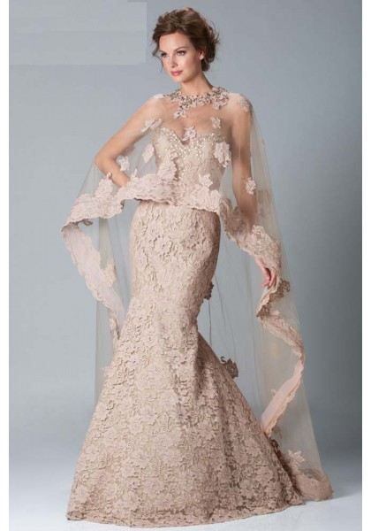 Long Lace Evening Dress
