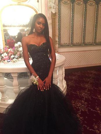 82888be9c7 Formal Dress Prom Dress black tulle sweetheart mermaid style luxury evening  dress