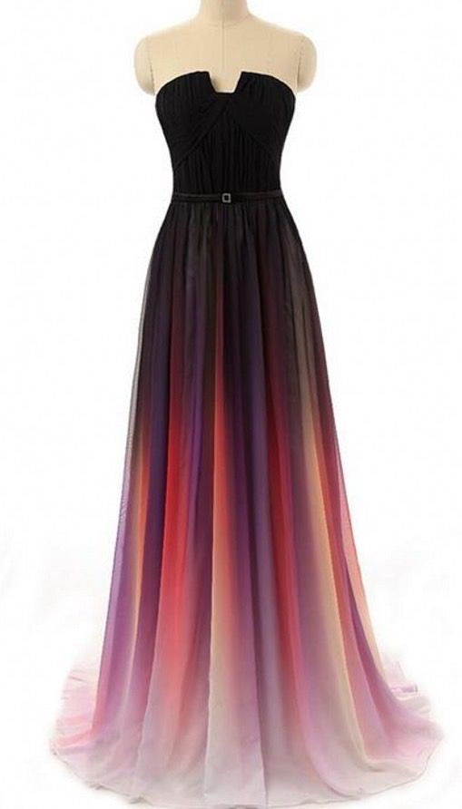 Charming Ombre Prom Dresslong Chiffon Prom Dressevening Dress