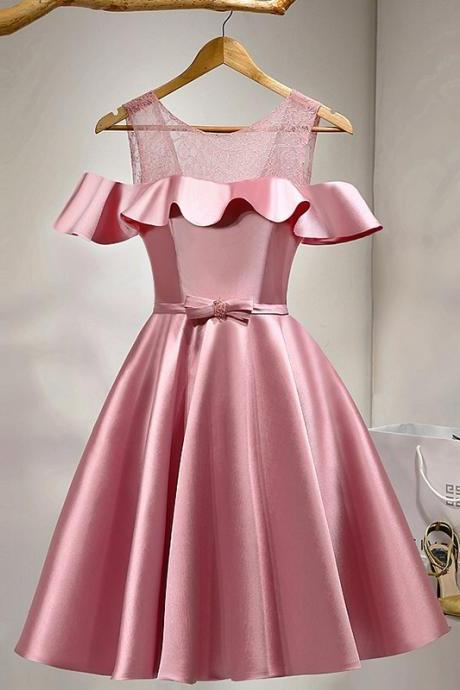 Cheap Homecoming Dresses 2017 Pink Homecoming Dresses,Short Prom Dresses,Girls Cocktail Dress,Homecoming Dress,Graduation Dress