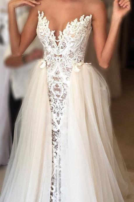 Cheap prom dresses 2017,Elegant Wedding Dress Bride Gown,lace wedding dresses,white wedding dresses,modest wedding dresses