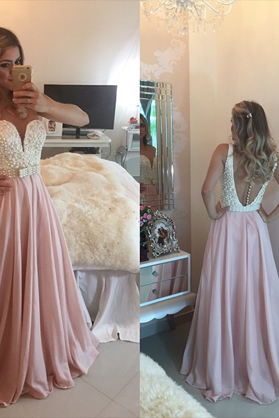 Cheap prom dresses 2017,Sweetheart prom dress,2017 new formal evening dress,custom made beading chiffon prom gowns,women wedding party dress