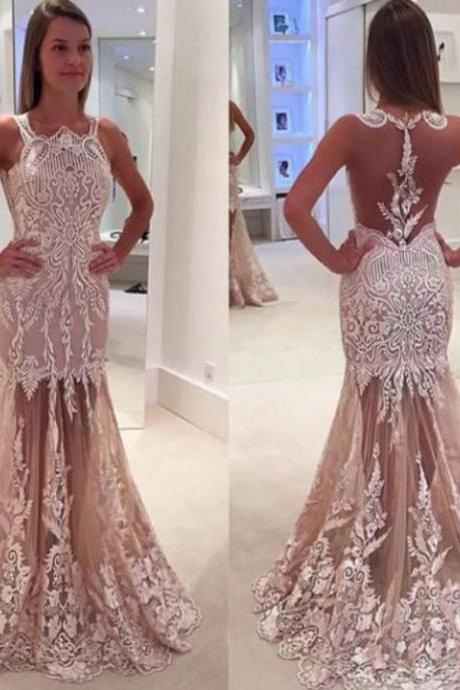 Cheap prom dresses 2017,Backless Prom Dress,Mermaid Prom Dress,Lace Prom Dress,Fashion Prom Dress,Sexy Party Dress, New Style Evening Dress