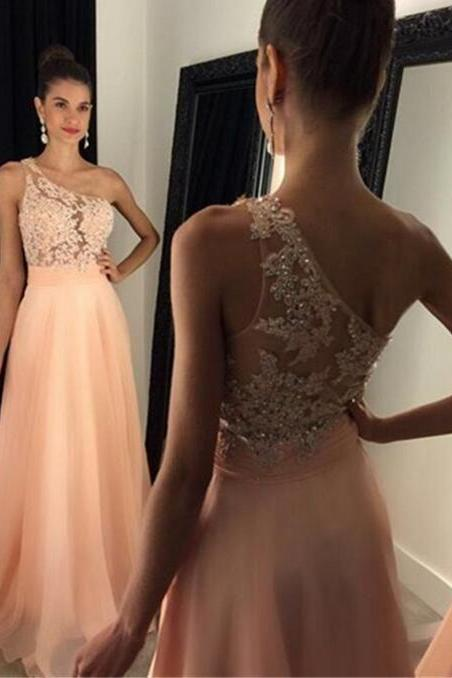 Cheap prom dresses 2017,One Shoulder Prom Dresses, Coral Evening Dresses, Lace Party Dresses, Crystal Evening Gowns, Chiffon Party Dresses, Lace Evening Gowns Dresses, Cheap Formal Dresses, Evening Dresses For Sale,