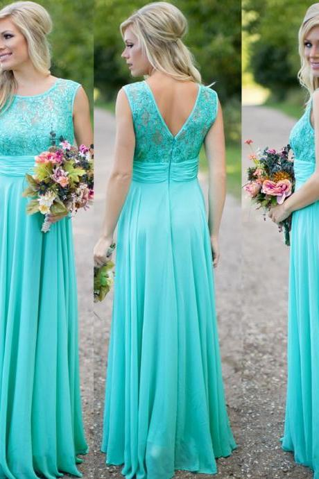 Cheap prom dresses 2017,Turquoise Blue Bridesmaid Dress, Lace Bridesmaid Dress, Long Bridesmaid Dress, Wedding Party Dress, Cheap Bridesmaid Dress, Chiffon Bridesmaid Dress, Bridesmaid Dresses 2017