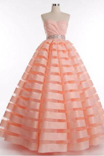 Cheap prom dresses 2017,2017 new fashion dresses in gown organza crystal belt actual image floor length evening dress long