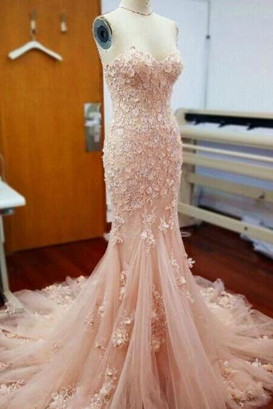 Sweetheart Appliques Prom Dress,Long Prom Dresses,Charming Prom Dresses,Evening Dress, Prom Gowns, Formal Women Dress,prom dress