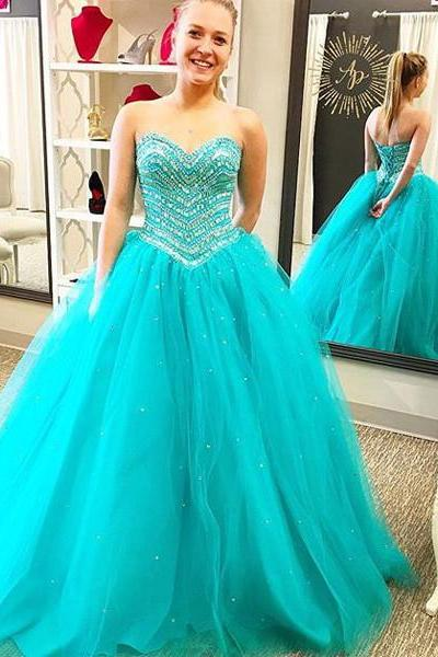 Cheap prom dresses 2017,Prom Dress,Aqua Prom Dress, Prom Gown, Quinceanera Dress,Heavy Beaded Prom Dress,Long Prom Dress,Prom Dress Cheap,Affordable Prom Dress,Junior Prom Dress,Formal Dress,Evening Dresses,Party Dress,Custom Plus size