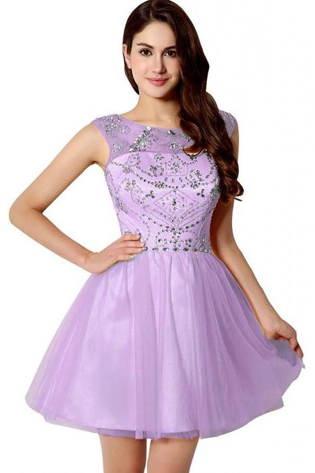 Short Prom Dresses 2017 Tulle Homecoming Ball Gown Dress