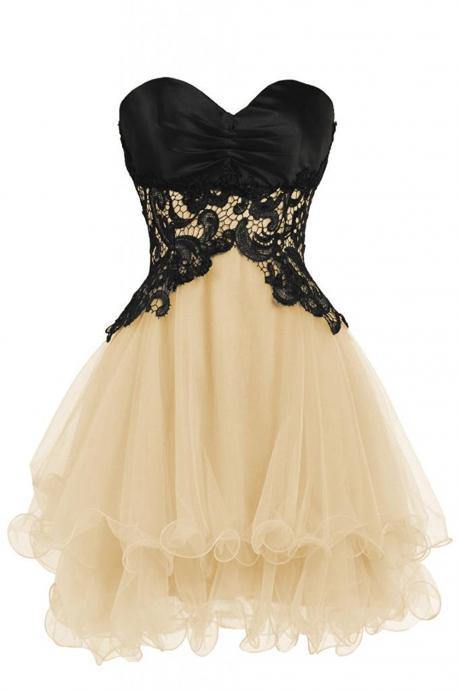Lace Homecoming Dresses,Sweetheart Bridesmaid Short Prom Homecoming Party Dresses For Juniors