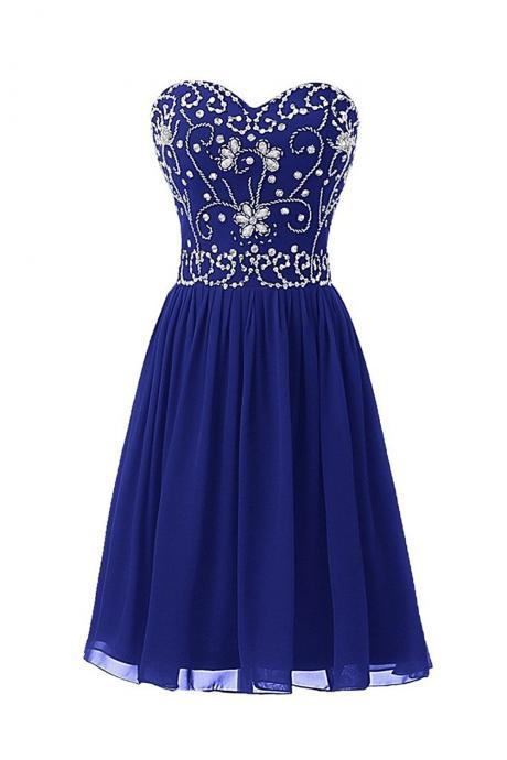 Sweetheart Homecoming Dresses,Short Beading Prom Homecoming Party Dresses for Juniors