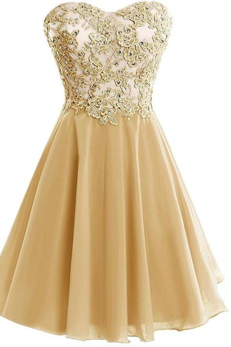 Sweetheart Homecoming Dresses,Sweetheart Short Applique Formal Cocktail Dress Homecoming Party Dresses