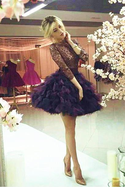 Cheap homecoming dresses 2017,Homecoming Dress,Lace Homecoming Dresses,short Lace Homecoming Dress,Black Homecoming Gowns,Sweet 16 Dress