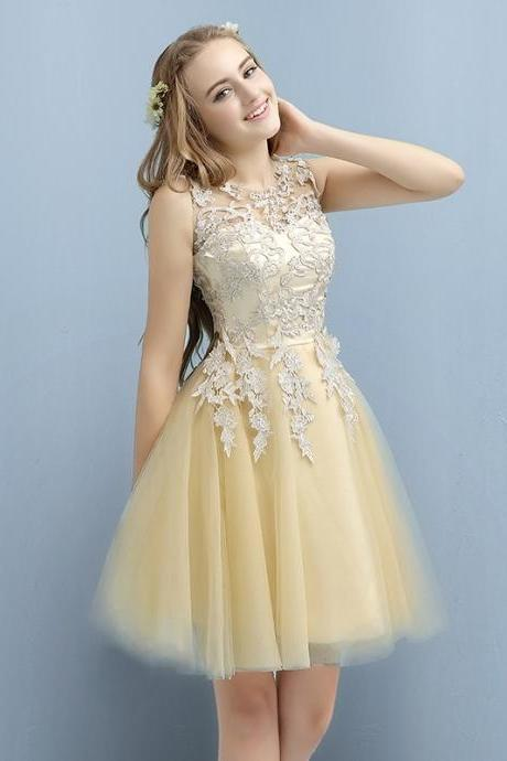 Cheap homecoming dresses 2017,Applique Short Cocktail Dresses for Juniors, Lace Homecoming Dresses, Cute Prom Party Dress on Sale