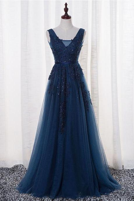Cheap prom dresses 2017,Real Photos Navy Blue Evening Dresses