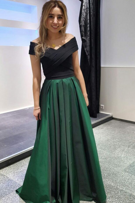Cheap prom dresses 2017,Off-Shoulder Satin Evening Gown