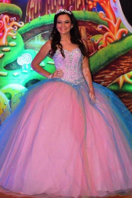 Cheap prom dresses 2017,Charming Pink Quinceanera Dresses 2017