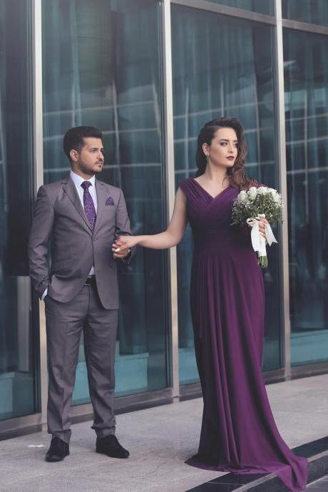 Cheap prom dresses 2017,Purple Spandex Long Evening Dress 2017 Ruched Elegant Formal Dresses