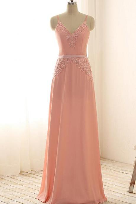 Lace Appliqués Long Prom Dress,A-Line Evening Dress