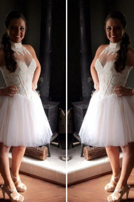 Cheap homecoming dresses 2017,Lace Homecoming Dresses,Short Homecoming Dress, White Homecoming Dress