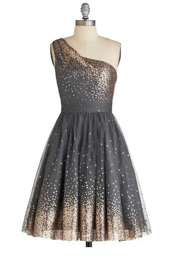 Sequin Homecoming Dress,Gray Homecoming Dress