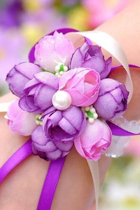 Pretty Cute Prom Wedding Flower Bracelet