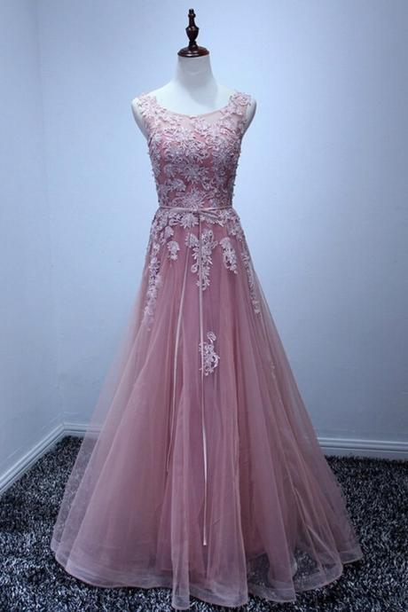 Cheap Elegant Pink Both Shoulders Wedding Dress Princess Formal Evening Dress