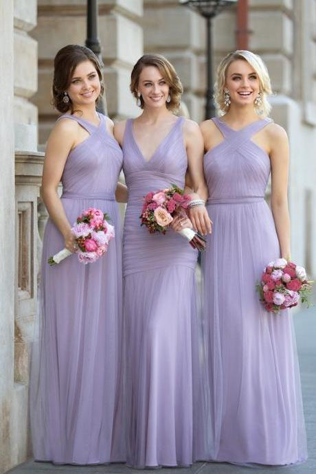 Gold Sheath A-Line Scoop Neck Long Sleeves Floor-Length Sequined Bridesmaid Dress