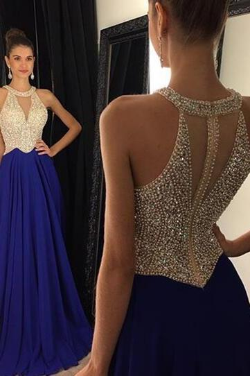 Teens Fashion Evening Gown,Beadings Evening Dress,Party Dress,Chiffon Prom Gowns