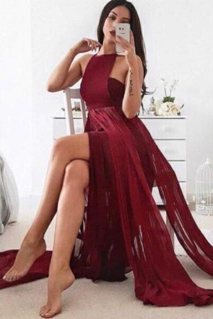Cheap Prom Dresses 2017 prom dresses,2017 prom dresses,Burgundy long prom dress ,burgundy evening dresses,sexy back prom dresses,prom dresses for women,