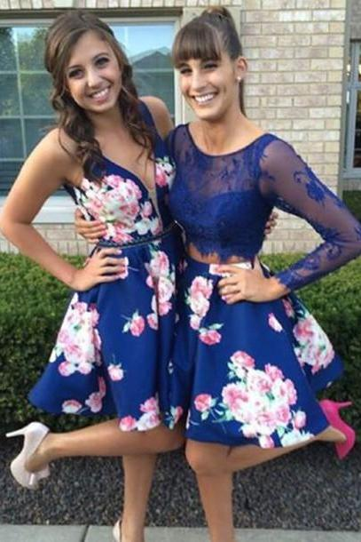 Royal Blue Homecoming Dress,Homecoming Dresses,Homecoming Gowns,Short Prom Gown,Sweet 16 Dress