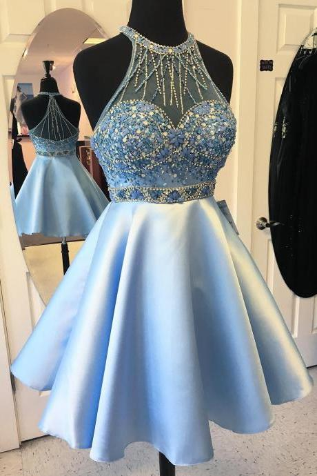 cheap homecoming dresses 2017 short,Short Homecoming Dress, Cocktail Party Dress, Halter Homecoming Dress, Satin Prom Dress, Cheap Prom Dress, Prom Dresses 2017, A Line Homecoming Dress, Homecoming Dresses 2017