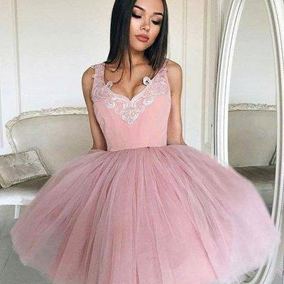 Cheap homecoming dresses 2017 Charming Prom Dress,Sexy Prom Dress,Tulle Prom Dresses,Short Party Dress