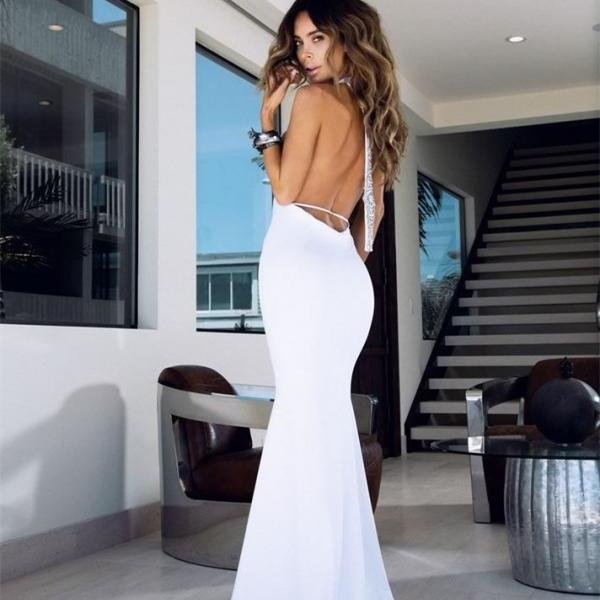 Charming Prom Dress,Sexy Prom Dress,Long Prom Dresses,Mermaid Prom Dresses ,Backless Prom Dress