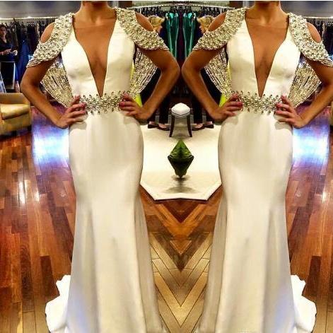 Cheap prom dresses 2017,Custom Made Ziad Nakad Sexy Crystal Bling Evening Dresses 2017 Prom Sexy Party Gowns Beaded Party Dresses Formal vestido de festa