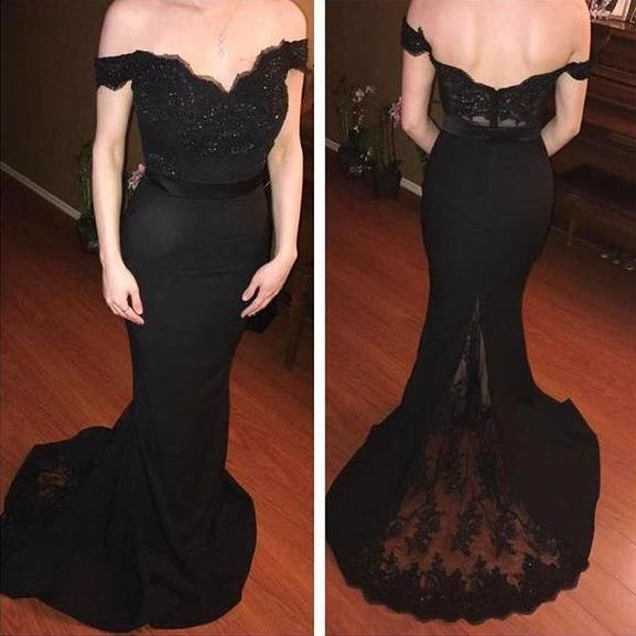 Cheap prom dresses 2017,Charming Prom Dress,Sexy Prom Dress,Off Shoulder Lace Evening Dress,Long Prom Dresses