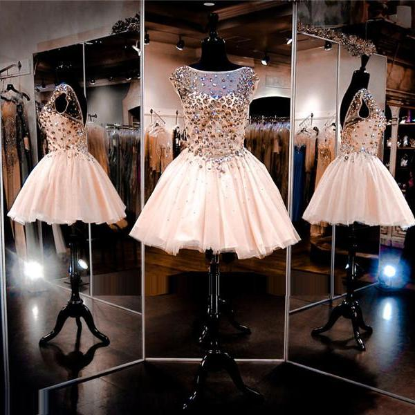 Cheap homecoming dresses 2017,Baby Pink Prom Dress,Short Prom Dress,Junior Prom Dress,Cheap Prom Dress,Sparkle Prom Dress,Crystals Prom Dress, Sexy Prom Dress, Baby Pink Homecoming Dress, 8th Grade Prom Dress,Holiday Dress,Baby Pink Evening Dress, Short Evening Dress,Formal Dress, Short Homecoming Dresses, Graduation Dress, Cocktail Dress, Party Dress