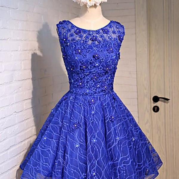 Cheap homecoming dresses 2017,Short Custom Homecoming Dress,Lace homecoming dresses, Cute homecoming Dresses, Appliques homecoming dresses, Juniors homecoming dresses,blue homecoming dress,